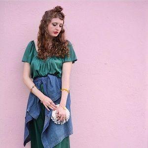 Beautiful Green Vintage Vanity Fair Nightgown, M